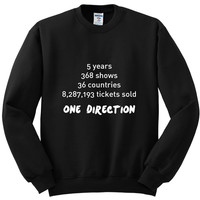 "One Direction ""Stats"" Crewneck Sweatshirt"