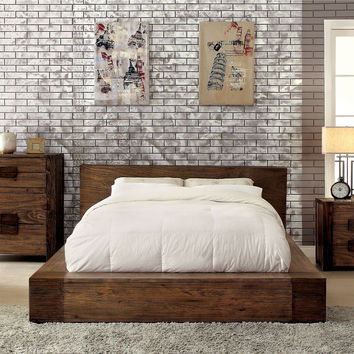Birdwell Transitional Low Profile Eastern-King Bed in Natural