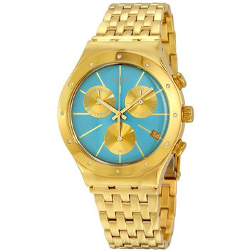 Swatch Irony Turchesa Chronograph Blue Dial Mens Watch YCG413G