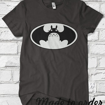 Bat-totoro, Custom T-shirt, print screen T-shirt, Awesome T-shirt for Men, Size s, m, l, xl, xxl, 3xl, 4xl, 5xl