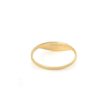 Minimalist Signet Ring in 14k Yellow Gold
