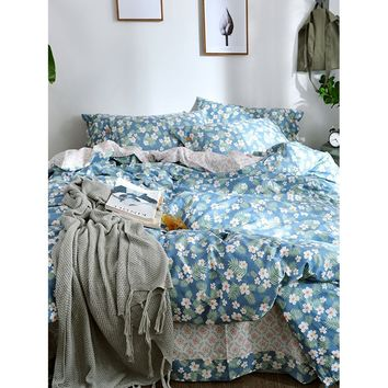 Flower & Leaf Print Sheet Set