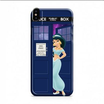 Disney Princess Jasmine Tardis Police Box iPhone X case