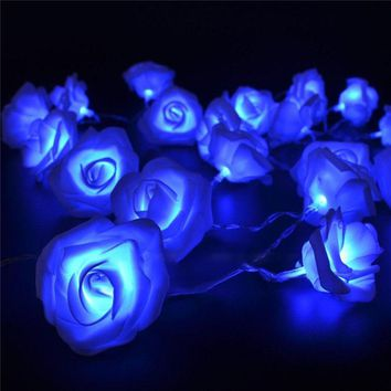 1.2M 10 LED Novelty Rose Flower Fairy LED String Lights Christmas Wedding Garden Valentine's Day Holiday Lighting Decoration