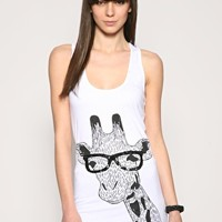 Numph | Numph Nerd Giraffe Long Vest at ASOS