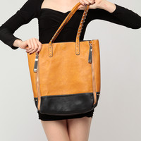 Studded Two Tone Shopper