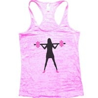 Women With Weight Lift Burnout Tank Top By Funny Threadz