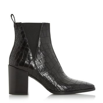 DUNE BLACK LADIES PANCRAS - V Cut Elasticated Side Panel Ankle Boot - black | Dune Shoes Online