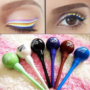 New Brand Makeup Rainbow color eyeliner lollipops Colorful liquid eyeliner white purple blue green and brown eyeliner maquiagem