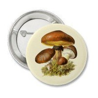 Brown Vintage Mushroom Button