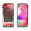 The Faded Neon Painted Hearts Apple iPhone 5c LifeProof Nuud Case Skin Set