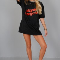 SCARLET | Tailgate Hangover Oversized Distressed Tee