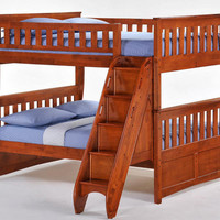 Eastwood Full over Full Stairway Bunk Beds