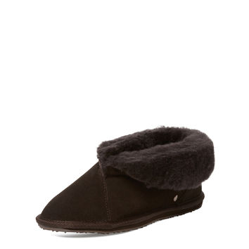 EMU Women's Talinga 14 Sheepskin Slipper - Dark Brown -