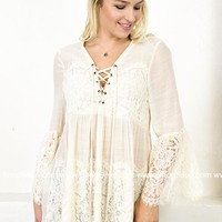 Charming Lace Cream Top