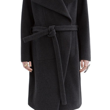 Acne Studios - Emera lux wool dark grey melange