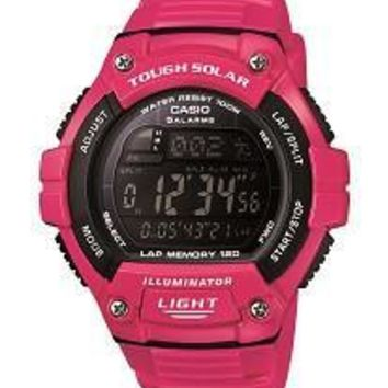 Casio Womens Tough Solar Pink  Digital Watch