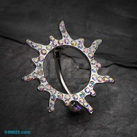 Blazing Sun Eclipse Reverse Belly Button Ring