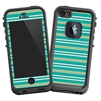 Striped Ocean Skin for iPhone 5 Lifeproof Case