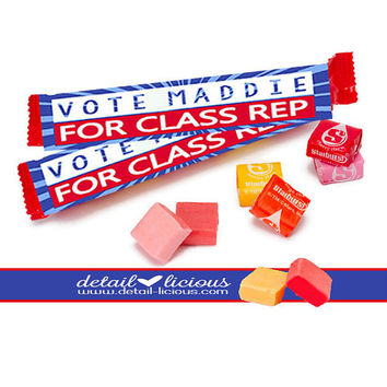 Starburst Favors, Personalized Favors, Election Favors, Labels, Vote, Voting Favors, Custom Favors, Candy Favors, Candy Wrappers, Favors