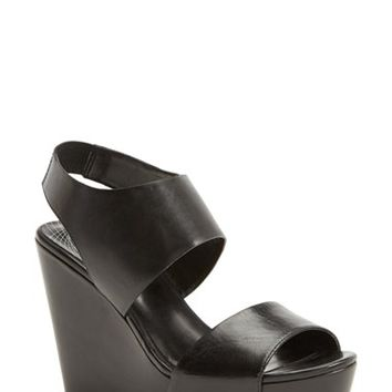 Women's Trouve 'Morgan' Platform Wedge Leather Sandal,