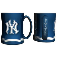 New York Yankees MLB Coffee Mug - 15oz Sculpted (Single Mug)