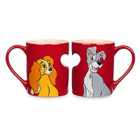 disney parks 60th anniversary lady and the tramp mug set new with box