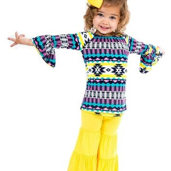 Toddlers' Ruffle Tiered Pant, Yellow