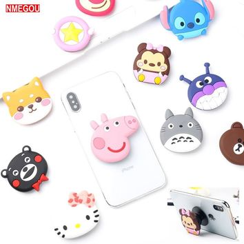 Phone Expanding Stand and Grip Finger Holder Case Cover for Iphone X XR XS Max 10 8 7 6 6S Plus Hello Kitty Cartoon Coque Cases