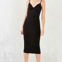 Silence + Noise Scallop Neck Ponte Bodycon Dress