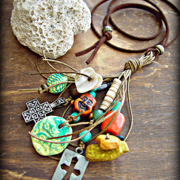 Buddha Necklace - Boho Tassel Necklace - Boho Jewelry - Hippie Necklace - Tribal Necklace - Yoga Jewelry - Hippie Jewelry
