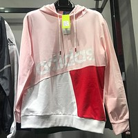 ADIDAS 2019 new tide brand men and women models wild hooded sweater Pink