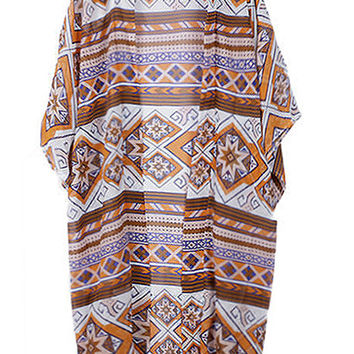Cupshe Orange Candy Cover-up Cardigan