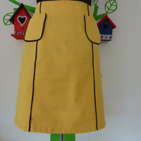 Miss Busy Bee  (Size M / 38) Skirt A-line yellow