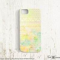 Tribal pattern iPhone 5 case - ombre iPhone 4 case, gradient iPhone 4s case, 3D printing, colorful - Tribal pattern with aurora color (c19)