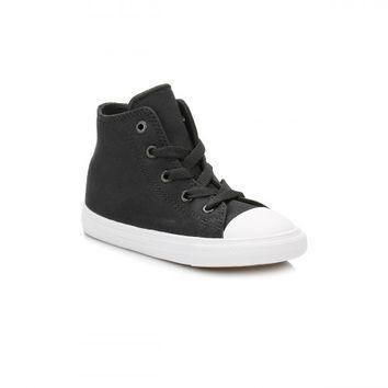 converse all star chuck taylor ii infant black white hi top trainers