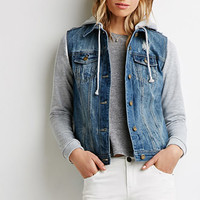 Life in Progress Hooded Denim Jacket