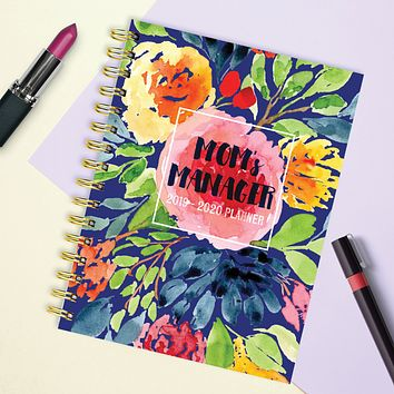 Mom's Manager Medium Academic Weekly/Monthly Planner