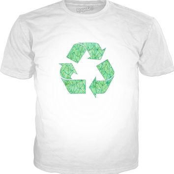 Green foliage recycling logo Classic T-Shirt White