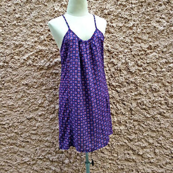 Ikat Ethnic Camis Dress Print Boho Festival casual Clothing Bohemian Styles Aztec Hippies Hobo Beach Summer Clothes Adjust Strap in purple