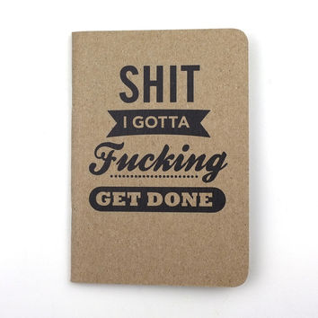 Cool Material: Sh_t Notebook Set Of Four, at 10% off!