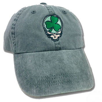 Grateful Dead Shamrock Steal You Face Soft Ball Cap