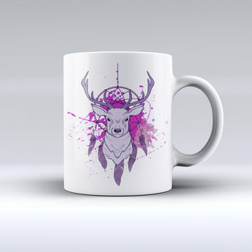 The Purple Deer Runner DreamCatcher ink-Fuzed Ceramic Coffee Mug