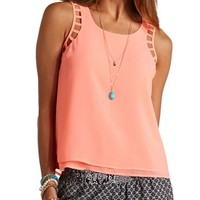 CAGED CUT-OUT TANK TOP