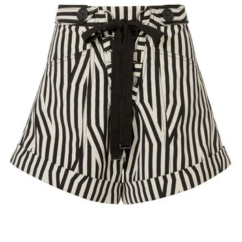 Abstract Striped Shorts