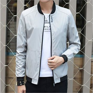 Trendy Big Size 4XL Mens Spring Summer Jackets Casual Thin Male Windbreakers College Bomber Black Windcheater Hommes Varsity Jacket AT_94_13