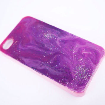 SALE Pink and purple iPhone 4 cosmic galaxy decoden case