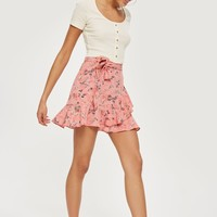 Ruffle Tie Mini Skirt | Topshop