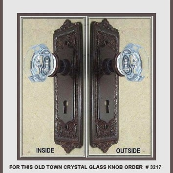 Door knob set with oil rubbed bronze from rousso designs for Special order french doors