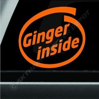 Ginger Inside Funny Bumper Sticker Vinyl Decal Car JDM Diesel Truck SUV Euro ill